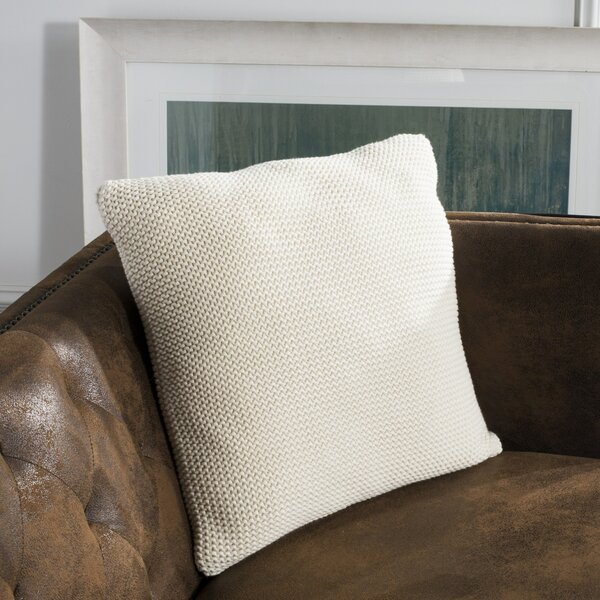 Johnsburg Knit 100% Cotton Throw Pillow by Ophelia & Co.